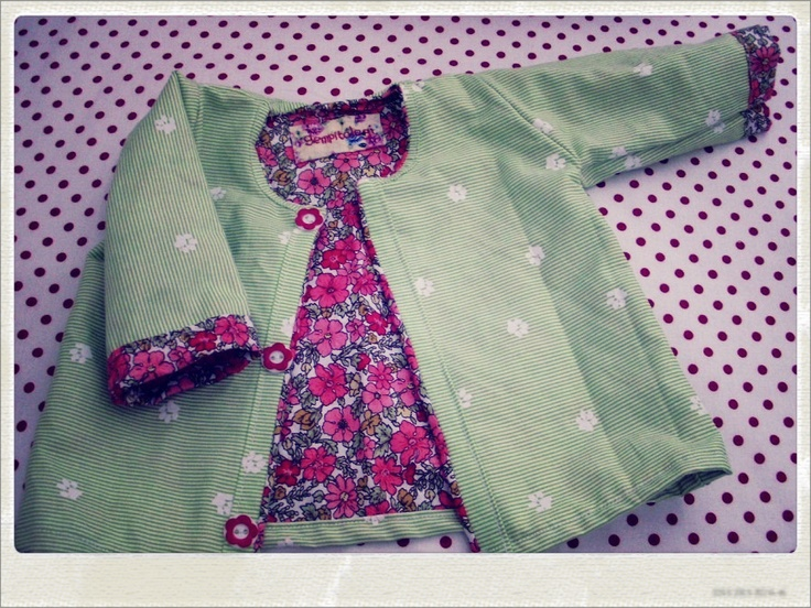 pink spring flower baby jacket