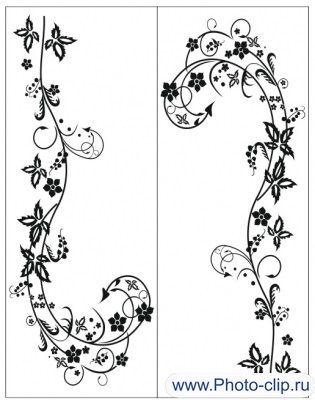 Пескоструйный рисунок Цветы №316