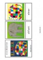 Woordkaarten Elmer - verhaal