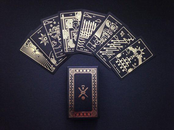 Golden Thread Tarot Deck tarot cards modern tarot by Milkmusket