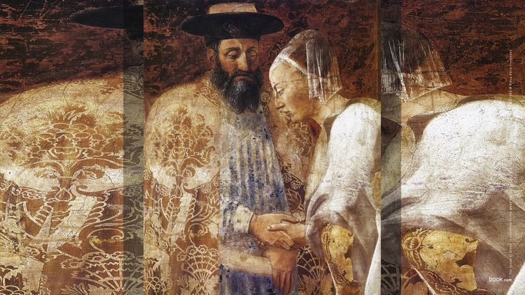 King Solomon and the Queen of Sheba, detail of The Legend of the True Cross.  Adolph Menzel Museum