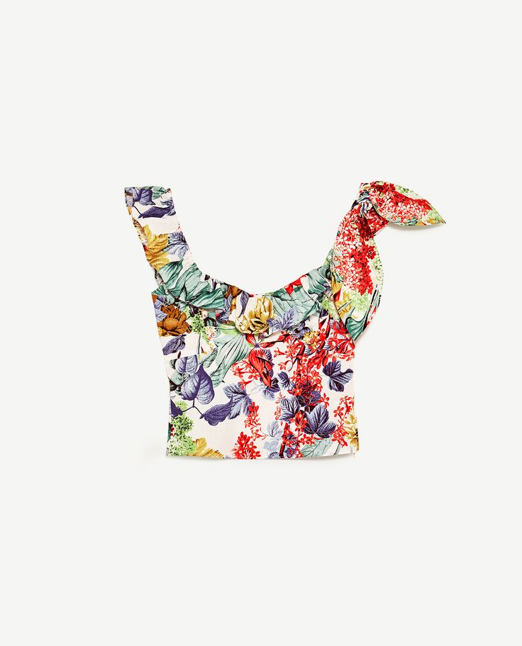 Image 8 of TROPICAL PRINT TOP from Zara