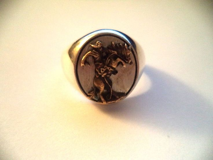 Mens' man on horse ring sterling silver sz.12.5  *nice vintage ring* | Jewelry & Watches, Vintage & Antique Jewelry, Fine | eBay!