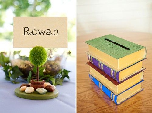 I like this book box.  It was used as a card box for a wedding.  But you could reuse it as a piggy bank later!