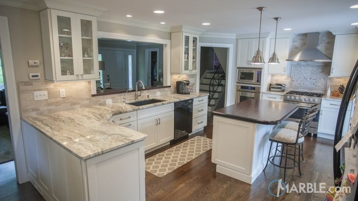 Fantasy brown quartzite kitchen countertop kitchen ideas for Lineal foot counter