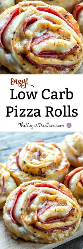 Low Carb Pizza Rolls Great for a #snack or a #meal #lowcarb #pizza #pizzarolls #easy