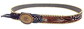 Cowboy hatband with real feathers