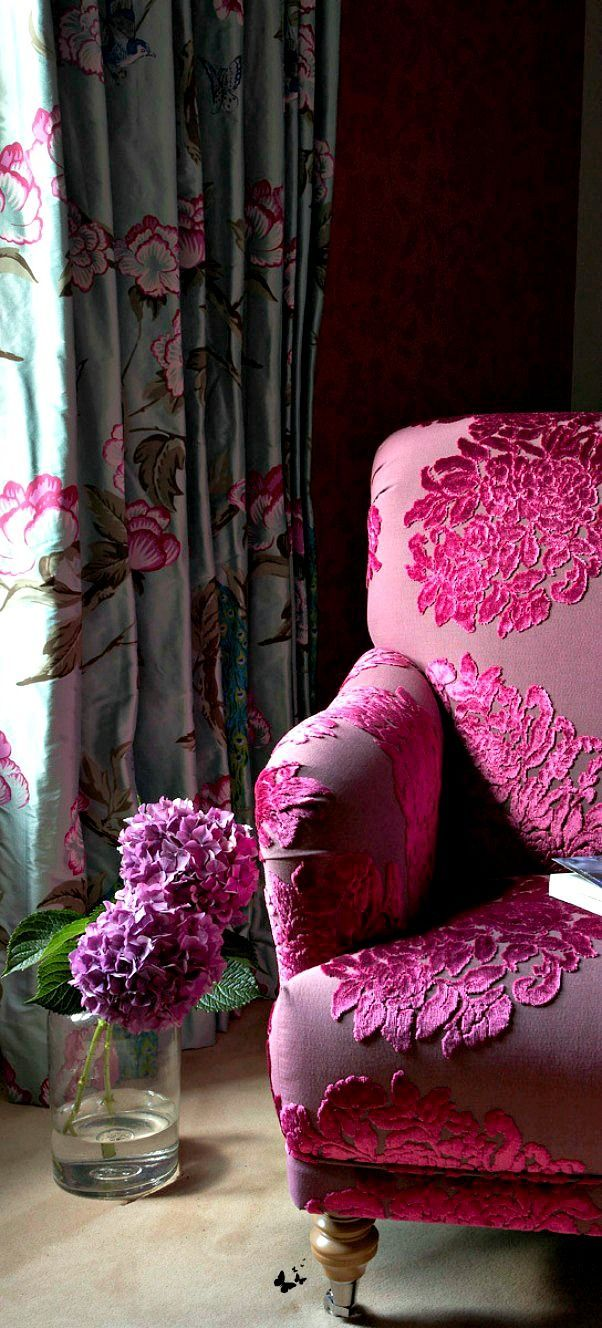 cut velvet chair