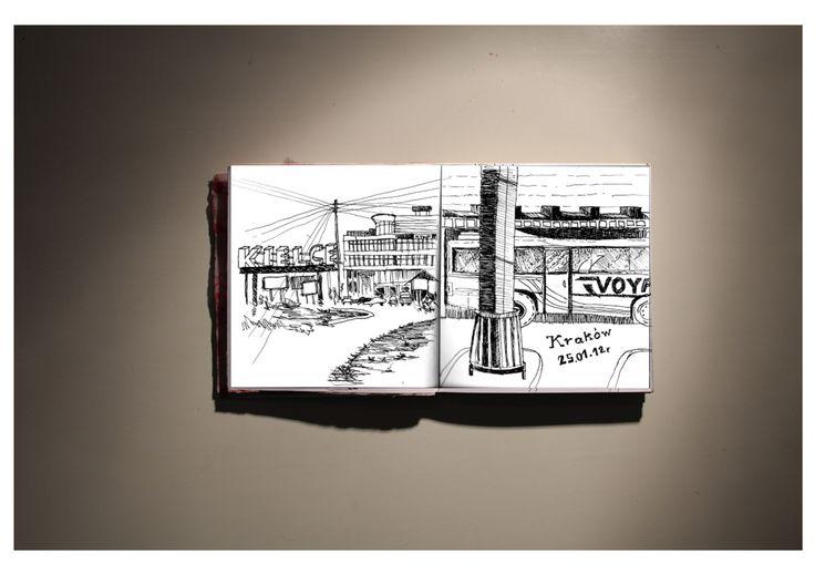 bus station #sketch #sketchbook