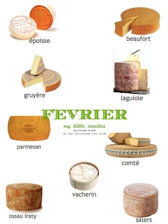 Février : produits de saison, fruits, légumes, poissons, fromages - My Little Recettes