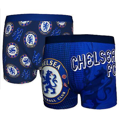 #Chelsea fc #official football gift 2 pair pk mens #crest boxer shorts,  View more on the LINK: http://www.zeppy.io/product/gb/2/171794988540/