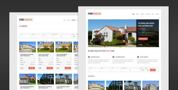 Pure Paradise - Clean Real Estate WordPress Theme - ThemeForest Item for Sale
