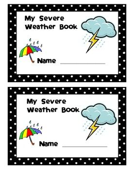 Students can take notes and illustrate The main types of severe weather.