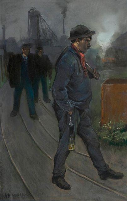 Mijnwerker op weg naar huis   Heijenbrock