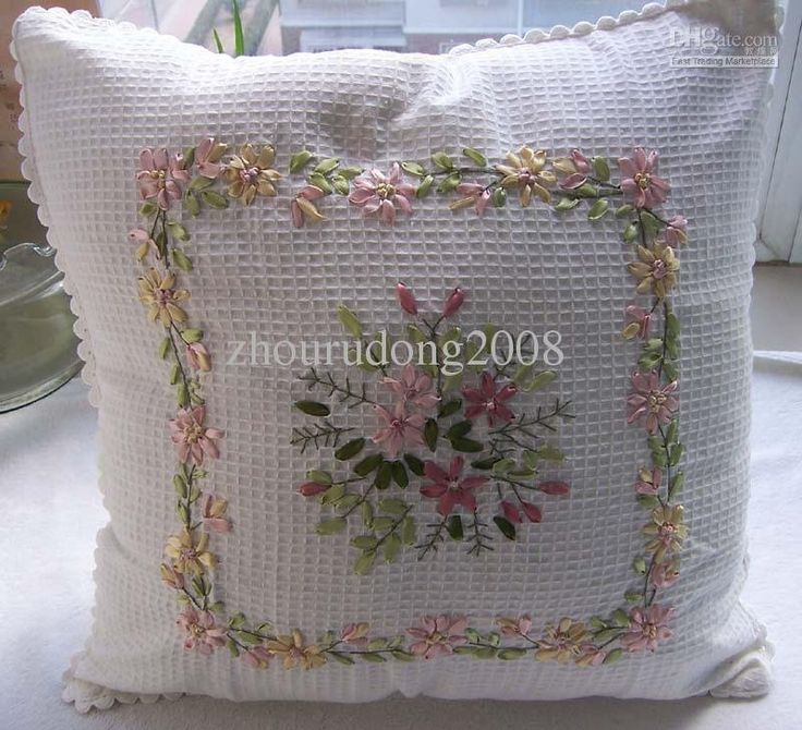 Hand Embroidery Pillow Cover