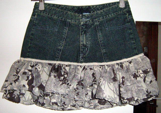 OrloSubito it: Mini gonna jeans e tanti fiori