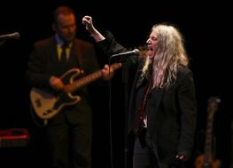 """Patti Smith performed """"Gloria: In Excelsis Deo,"""" the first song of her show at Northrop Auditorium on Wednesday night."""