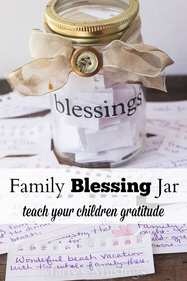 The family blessing jar tradition is a precious way to instill gratitude in your children with the simple act of recording blessings throughout the year. Children of all ages will enjoy this memory building exercise.