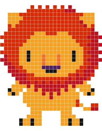 Lion pixel art - Stickaz
