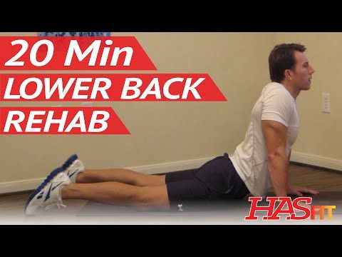 20 Min Lower Back Rehab - HASfit Lower Back Stretches for Lower Back Pain Exercises Workouts - YouTube