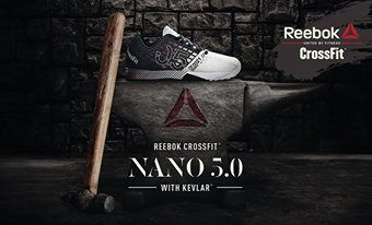 Ultimate in design and performance, #Reebok Crossfit Nano 5.0 Shoes for men. The lightest, strongest and most innovative Nano ever, the Reebok CrossFit Nano 5.0 is constructed with KEVLAR® material which is infused on the entire upper, specifically where you need it for the ultimate support and protection. #ForumCourtyard