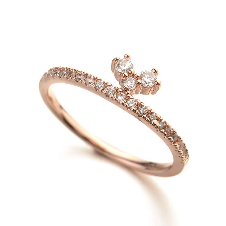 Популярные маленький палец кольцо с простым дизайном, золотые кольца дизайн для девочек, прозрачные кольца