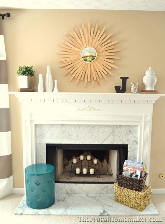 Modern styled all season decorated mantel  Living Room in 2019  Modern fireplace decor Mantel