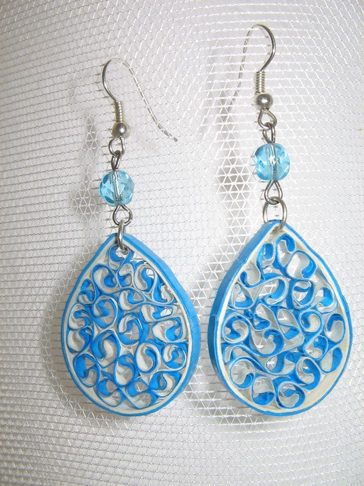 Handmade quilled earrings by kamila kouck quilling for Big quilling designs