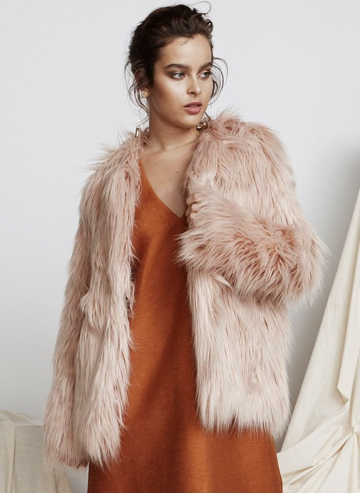 Pink Stitch - Ps The Label Double Take Fur Coat - Pink