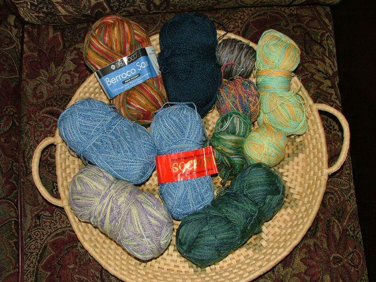 Mystery Grab Bag, 2 lbs, Sock Yarn, Assorted Yardage, Destash Crochet Knit - Box 8 by 3CsTwistedStitchers on Etsy