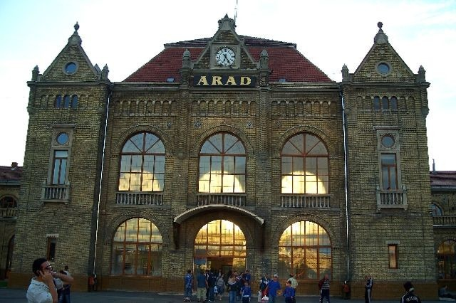 My old train station in Arad, RO.  Lots of trips in and out of the city were taken in 2 years.