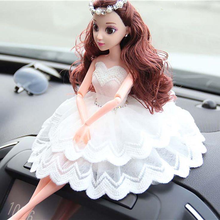 1 Шт. Прекрасный Автомобиль Кукла Свадебные Куклы Свадебные Куклы Волна Кружева Волосы Фи Казначей День Рождения Детей Украшения Мода Мягкие Игрушки
