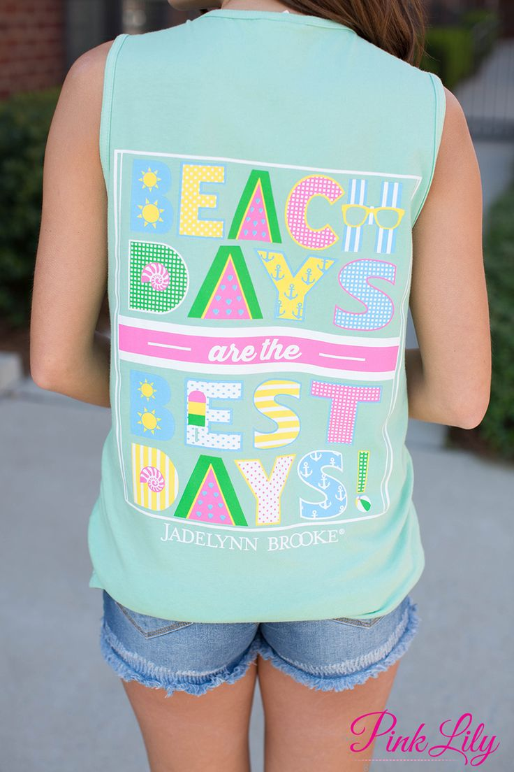 Jadelynn Brooke Beach Days Tank - The Pink Lily Boutique