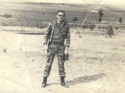 Soviet officer Igor Zhdarkhin poses in Cuito Cuanavale sometime during 1987.