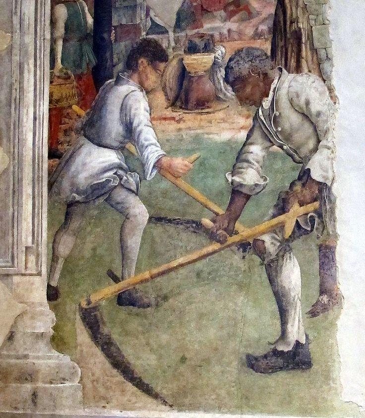 Francesco del Cossa - Allegoria di  Maggio: Scena di  vita di campagna - affresco - 1468-1470 ca. - Salone dei Mesi, Palazzo Schifanoia, Ferrara