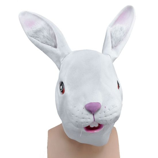 Knuffels winkel, Witte konijnen dierenmaskers en meer Konijnen en hazen pakken bestellen of als kado versturen. Konijnenmaskers voor volwassenen, ruim 2.500