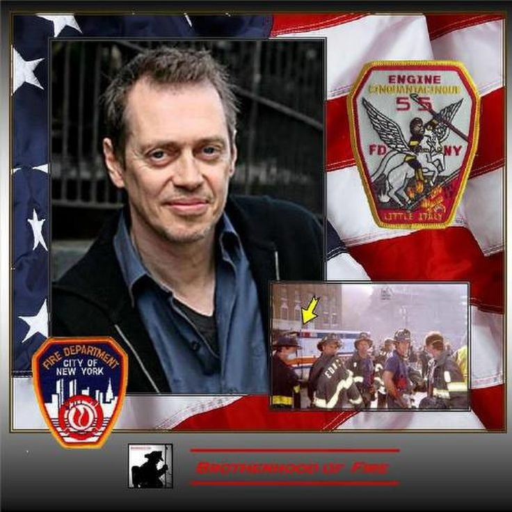 Steve Buscemi - actor, writer director and firefighter who has worked along side his firefighting brothers in New York to help out after 9/11 and Super Storm Sandy. I always knew I liked this guy for reasons beyond him being a phenomenal actor. He's one of the good guys.