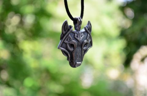 Wolf Head - Nordic Viking Pendant Necklace *USE CAUTION when wearing these necklaces...they have been known to bring savage wolf strength powers to those that wear it.* AVOID wearing on a full moon...