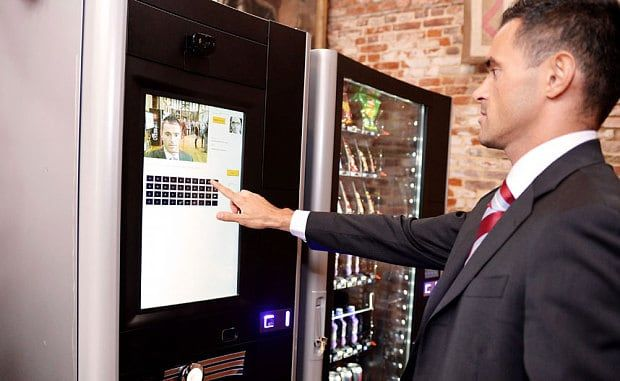 The world's first vending machine with facial recognition technology has been unveiled, and it could refuse to vend a certain product based on a shopper's age, medical record or dietary requirements  Image credit - www.telegraph.co.uk