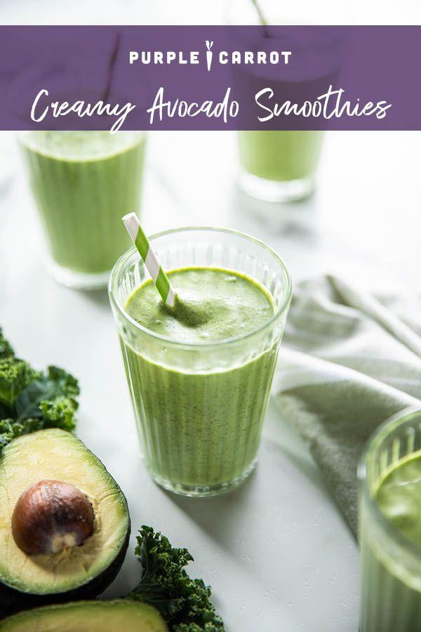 Creamy Avocado Smoothies Plant Based Recipes Recipe Avocado Smoothie Raspberry Smoothie Carrot Recipes