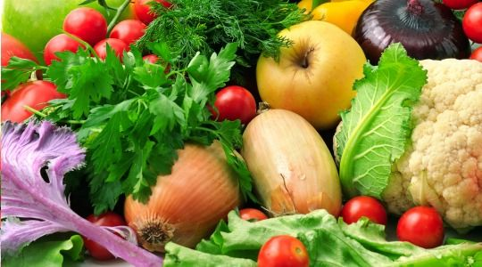 Tablas de calorias de las verduras. Aporte calorico de las verduras