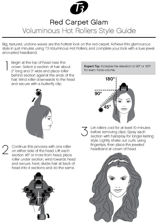 Voluminous Hot Roller Style Guide with T3 products! #Howto #StyleGuide #Curls