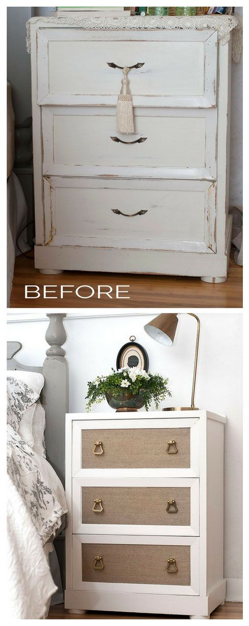 Adding Wallpaper To Painted Furniture   Before And After Bedroom Makeover  From Salvaged Inspirations