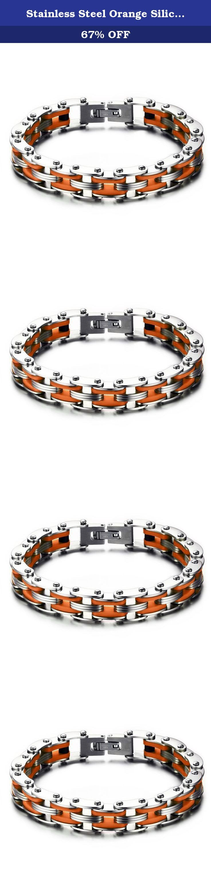 Stainless Steel Orange Silicone Men's Bicycle Bike Chain Bracelet for Men,Bold and Chunky. The Vnox Discover the Vnox of elaborate and fashion jewelry. The high-quality jewelry featured in the Vnox offers great values at affordable Price, they mainly made of high quality Stainless Steel,Tungsten,Alloy and Leather. Find a special gift for a loved one or a beautiful piece that complements your personal style with jewelry from the Vnox. Stainless Steel Stainless steel has increasingly grown…