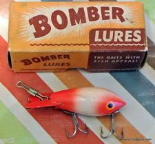 Bomber Lure No. 210 Red & White in 2 Piece CB Box - Great Condition