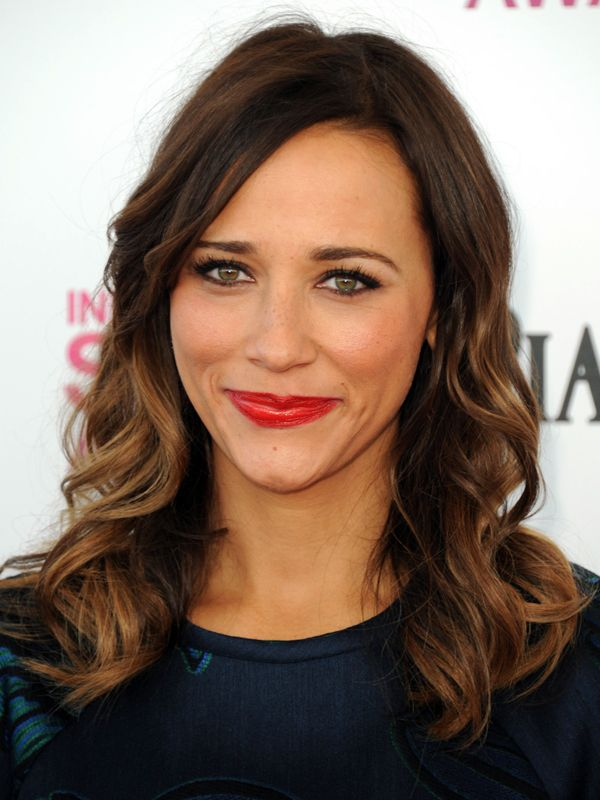Rashida Jones. i think so is absolutely gorgeous. love her hair and lipstick