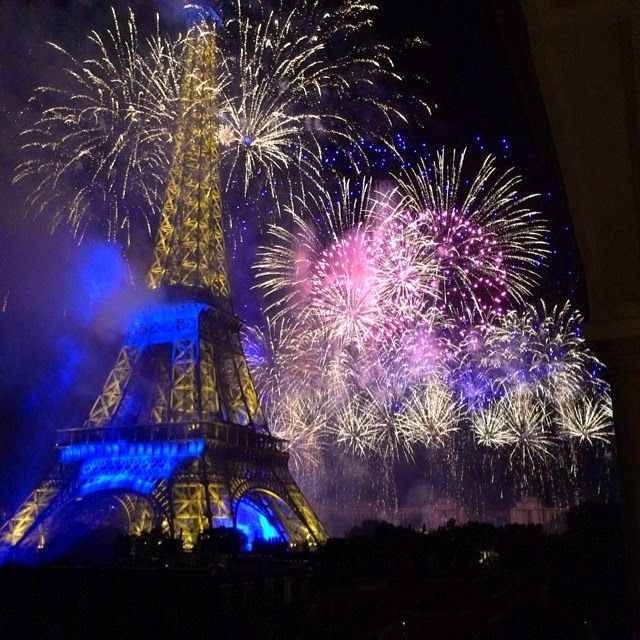 FETE NATIONALE (BASTILLE DAY) Fireworks and the Eiffel Tower ~ /