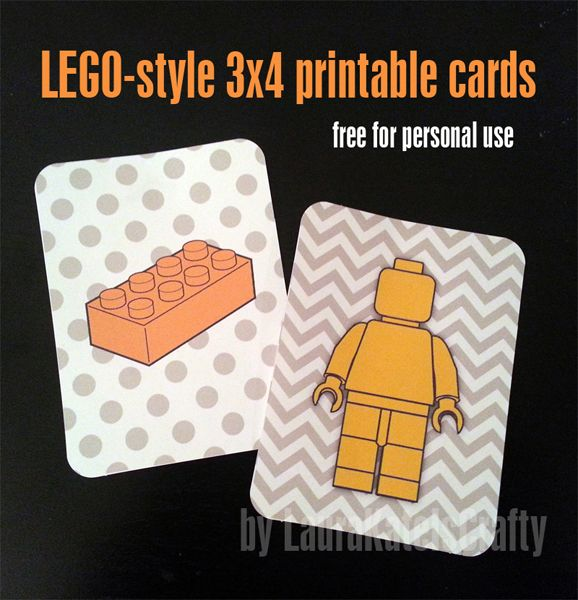 Free printable Lego filler cards for Project Life, etc. by LauraKateIsCrafty #projectlife #scrapbook #lego