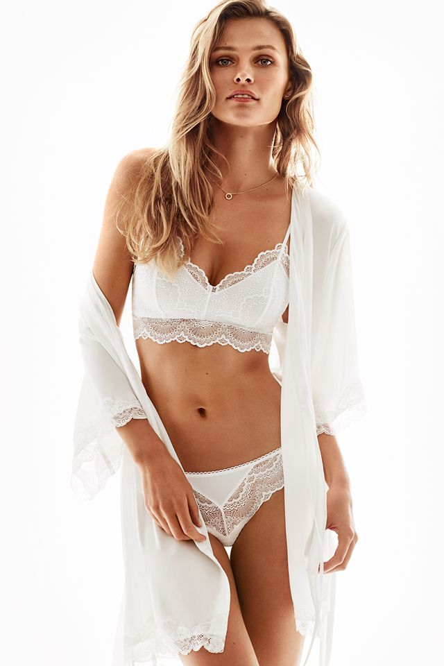 Say yes in bridal lingerie in classic white, with romantic lace and flattering shapes. | H&M Lingerie