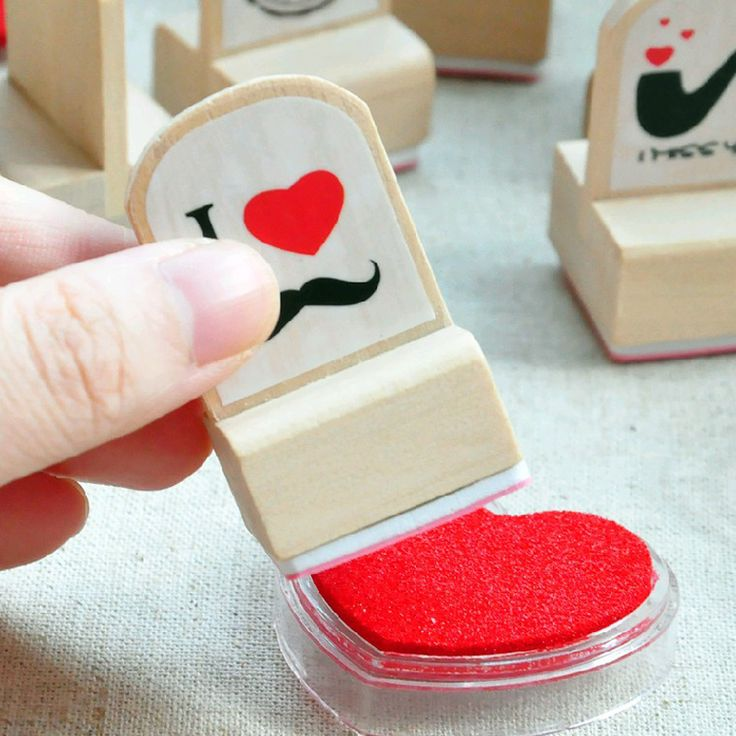 3pcs/set Creative Fun Wooden Rubber Stamp for DIY scrapbooking children toys Decoration craft seal gifts
